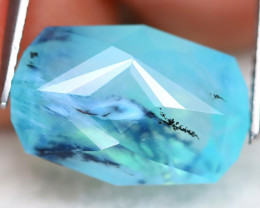 Paraiba Opal 5.85Ct Master Cut Natural Seaform Dendrite Blue Opal A0117