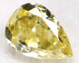 Yellow Diamond  3.4mm  Natural Untreated Fancy Diamond C0106