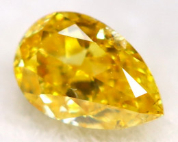 Yellowish Orange Diamond  3.5mm  Natural Untreated Fancy Diamond C0111