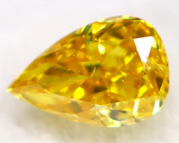 Yellowish Orange Diamond 3.2mm  Natural Untreated Fancy Diamond C0113