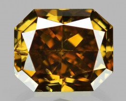*NoReserve*Diamond 0.54 Cts Untreated Fancy Yellowish Brown Color Natural