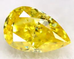 Yellowish Orange Diamond 3.3mm  Natural Untreated Fancy Diamond C0115