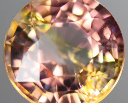 1.56CT 7X7MM Padparadscha Color Excellent cut Mozambique Tourmaline -PTA313