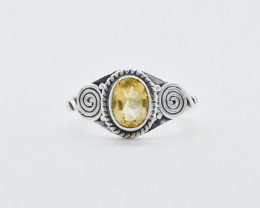 CITRINE RING 925 STERLING SILVER NATURAL GEMSTONE JR491