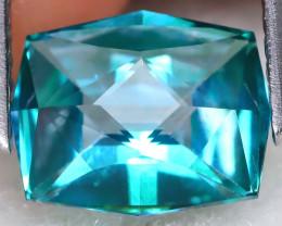 Green Topaz 2.88Ct VVS Mater Cut Natural Green Topaz C0206