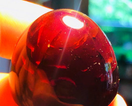 77CT AMBER -BLUE-RED  Origin Caribbean island