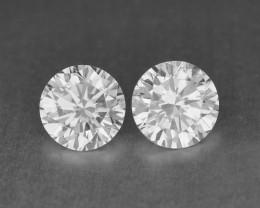 0.30 Cts Natural White Diamond Pair Africa