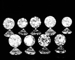 ~AIG~ 0.34 Cts Natural Untreated White Diamond 9 Pcs Round Africa