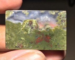 44.10 CT COLLECTOR PIECES MOSS AGATE PICTURE
