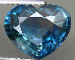 UNHEATED 5.09 ct. RARE MULTI COLOR SAPPHIRE NATURAL GEMSTONE HEART BIG PERF