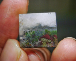 15.85 CT UNTREATED Beautiful Indonesian Moss Agate Picture