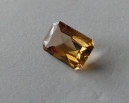 Yellow Orange Tourmaline gemstone