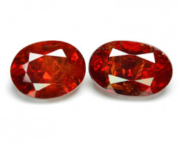 2.68 Cts Natural Orange - Red Spessartite Garnet Loose Gemstone