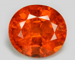 1.24 Cts Natural Orange - Red Spessartite Garnet Loose Gemstone