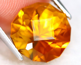 Madeira Citrine 4.25Ct VVS Master Cut Natural Orange Citrine A0305