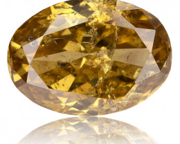 1.01 Ct. Untreated Natural Fancy Intense Orange Yellow Diamond Oval Earthmi