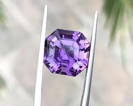 5.65 Ct Natural Purple Internally Flawless Amethyst Gemstone