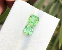 2.20 Ct Natural Green Transparent Tourmaline Gems Parcels