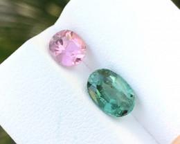 2.30 Ct Natural Green & Pink Transparent Tourmaline Gemstone