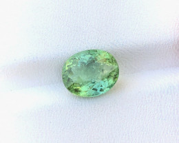 2.75 Ct Natural Greenish Transparent Tourmaline Gemstone