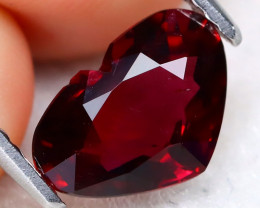 Almandine Garnet 1.90Ct VS Heart Cut Natural Red Garnet C0302