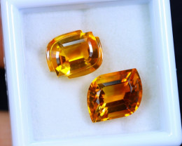 6.00cts Natural Yellow Colour Citrine Pair / MA418