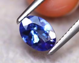 Tanzanite 1.04Ct Natural VVS Purplish Blue Tanzanite ER147/D3