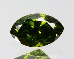 Hi - Stunning  0.15 Cts Natural Diamond Vivid Green Marquise Africa