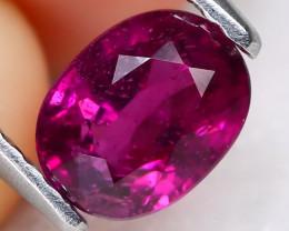 Garnet 1.28Ct VS2 Oval Cut Natural Purple Garnet A0411