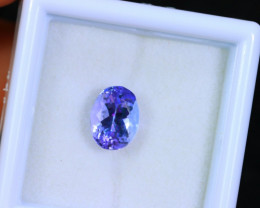 Tanzanite 1.66cts Natural Clear Purple Blue Tanzanite / KL252