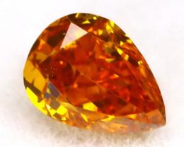 Intense Orange Diamond 0.18Ct Untreated Genuine Fancy Diamond B0404