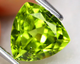 Peridot 1.91Ct VS2 Trillion Cut Natural Neon Green Peridot B0408