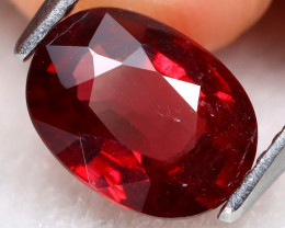 Red Garnet 1.90Ct Oval Cut Natural Vivid Red Garnet B0412