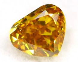 Yellowish Orange Diamond 0.13Ct Untreated Genuine Fancy Diamond B0414