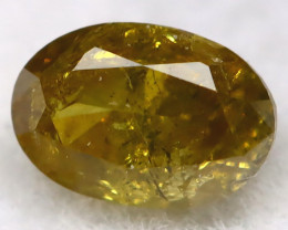 0.26Ct Natural Untreated Fancy Yellowish Green Diamond BM0422