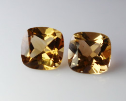 9.90 CT Natural - Unheated Brown Topaz Gemstone Pair