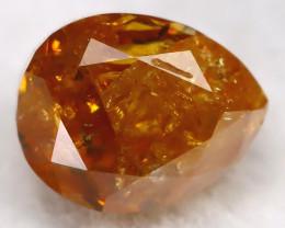 0.33Ct Natural Untreated Fancy Yellowish Orange Diamond BM0424