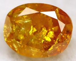 0.34Ct Natural Untreated Fancy Yellowish Orange Diamond BM0425