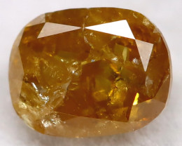 0.24Ct Natural Untreated Fancy Yellowish Orange Diamond BM0430