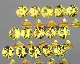 2.00 mm Round Machine Cut 15 pcs Light Yellow Sapphire [VVS]