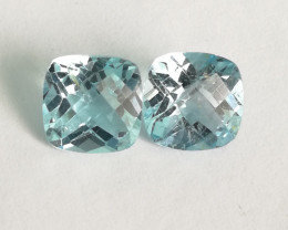 Topas pair, 5.36ct, perfect for jewelery, exceptional colour, better live!!
