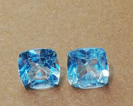 Topas pair, 5.00ct, top colour and quality!!!