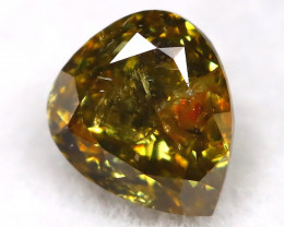 0.25Ct Natural Untreated Fancy Yellowish Green Diamond BM0436