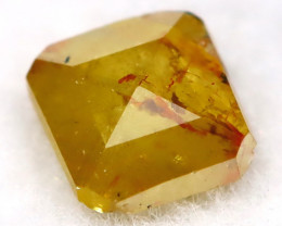 0.24Ct Natural Untreated Fancy Greenish Yellow Diamond BM0438
