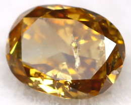 0.15Ct Natural Untreated Fancy Yellowish Champagne Diamond BM0441