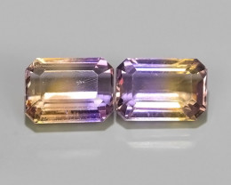 7.25 CTS WOW NATURAL AMETRINE BI COLOR OCTOGON~EXCELLENT!!