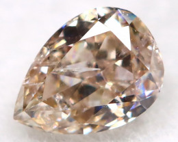 4.0mm Champagne Pink Diamond Natural Untreated Fancy Diamond AT0569