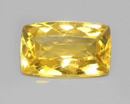 6.65 Ct Gorgeous Cushion Natural Real Genuine Gemstone Golden Yellow Beryl!