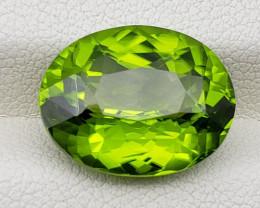 10.85 cts Peridot oval cut VVS2