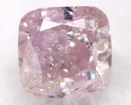 2.1mm Pink Diamond Natural Untreated Fancy Diamond AT0571